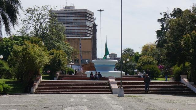 Praça que divide Rivera/UR de Santana do Livramento/BR