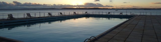 A piscina...foto de divulgação do próprio clube :)