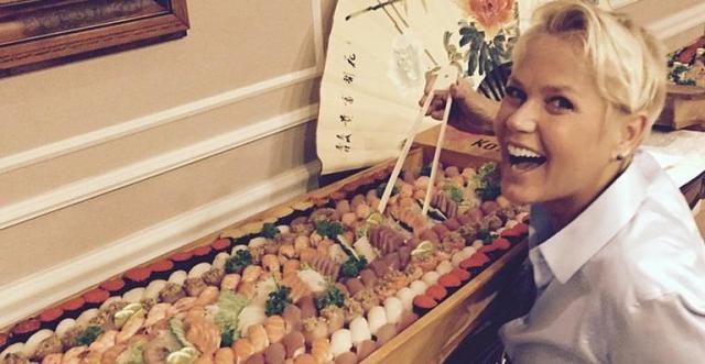 Tipo a Xuxa, comendo sem culpa! :D